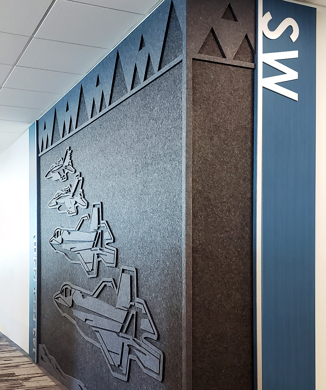 Photo of Oomph Accoustic Panels with fighter jets at the Navy building