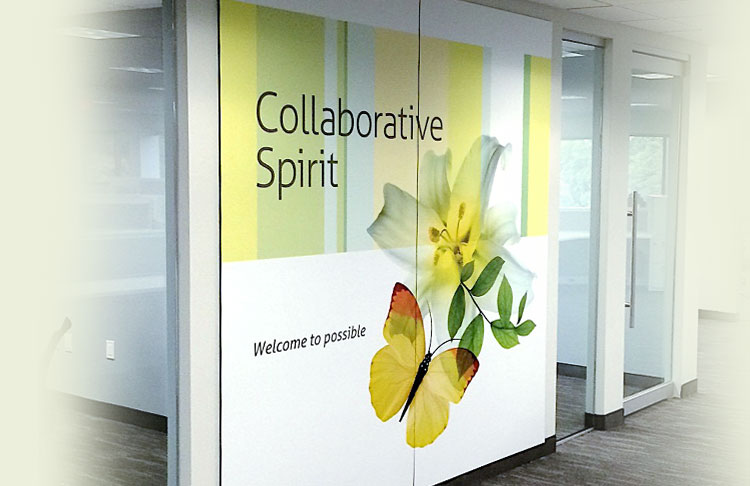 Corporate wall graphics
