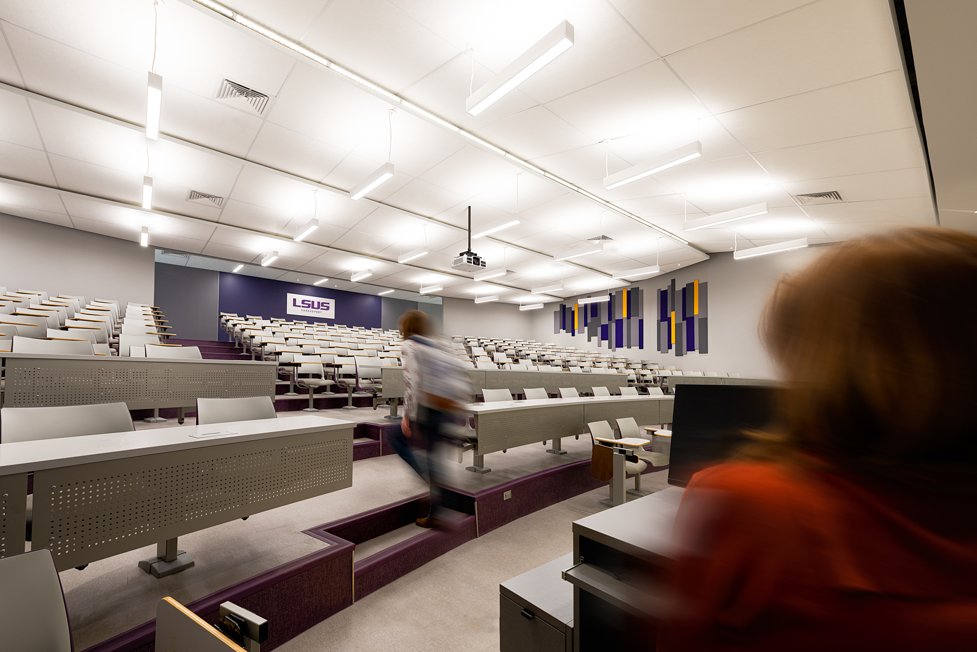 LSUS Auditorium with students and staff