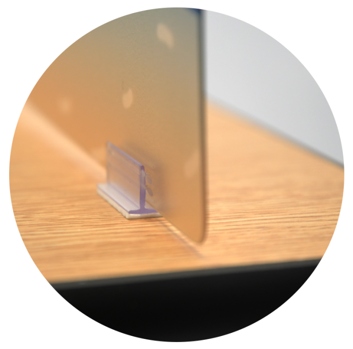 Closeup of desk attachment for FunView Graphic Panels