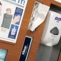 Purify Purell Tissue Kleenex Gloves Masks Gowns Holder Sanitizer Station Dispenser ADA Compliant