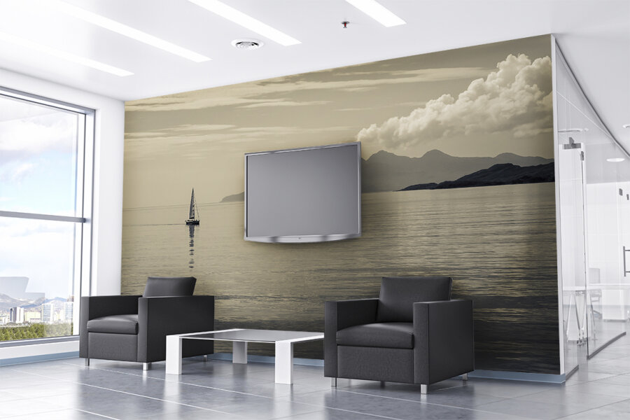 Amplify Wallcovering Reception Waiting Area