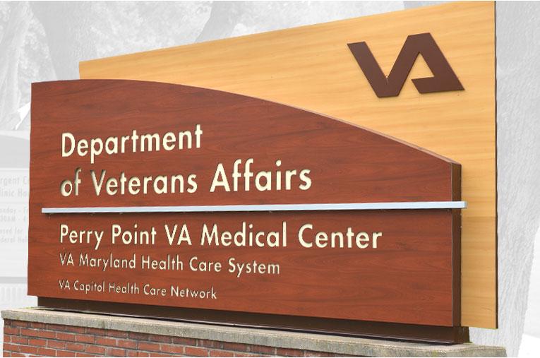 VA Hospital Exterior Sign System