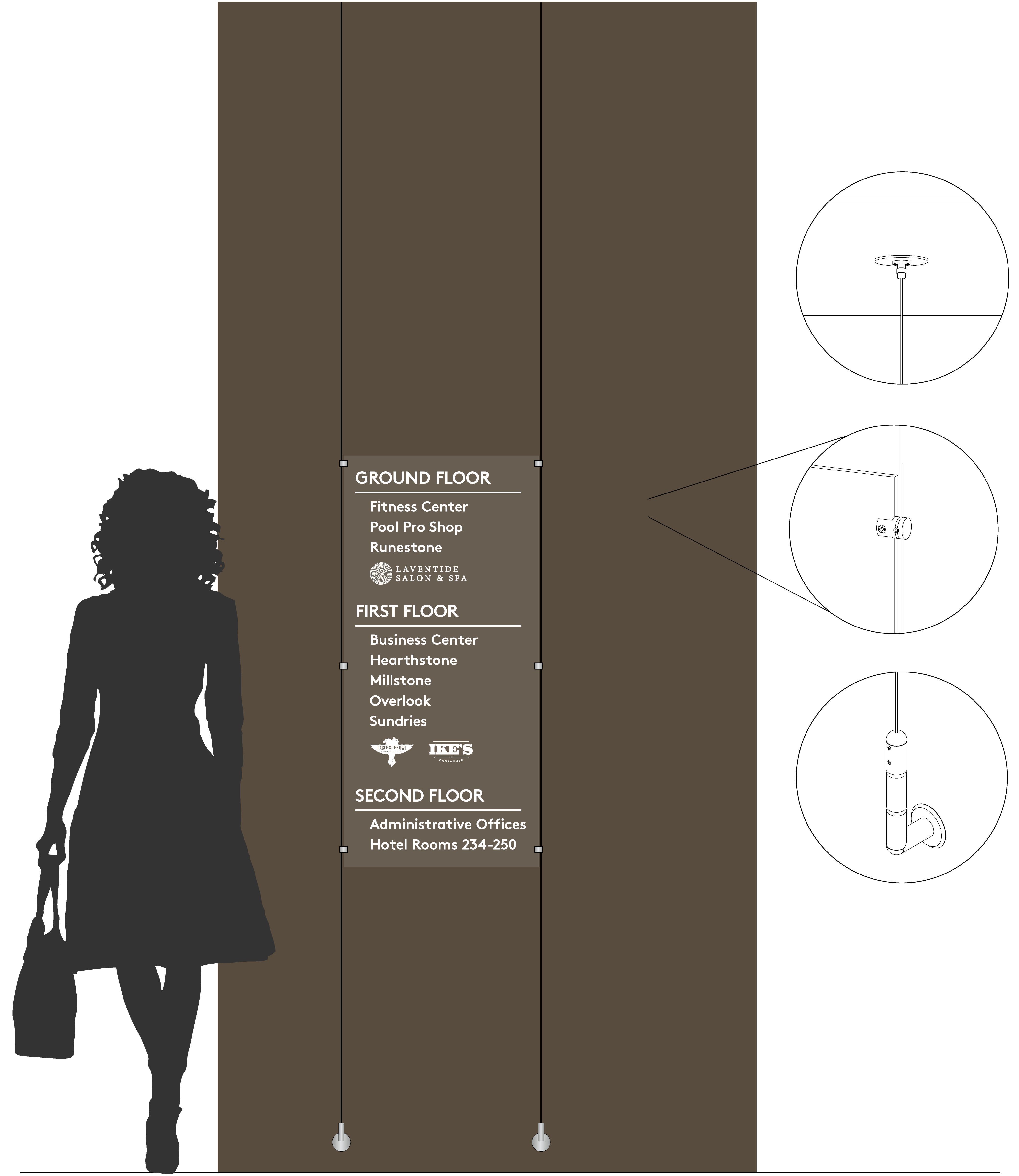 Rendering of elevator adapt sign