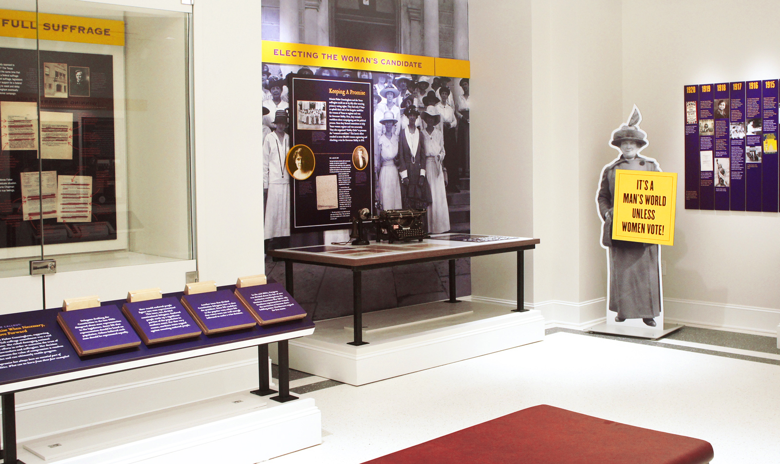 Institute for Women's Leadership display pieces