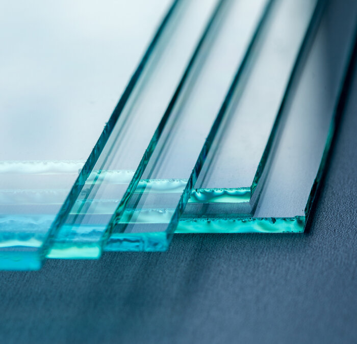 Detail photo of glass for protective partitions