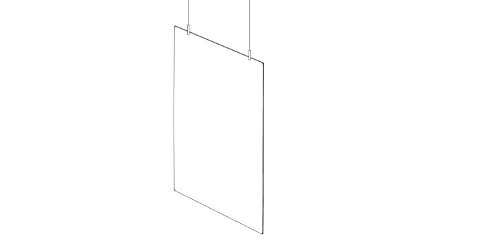 Hanging protective partition