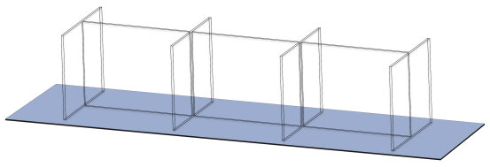 Eight-seat, Linear Tabletop Screen by Takeform
