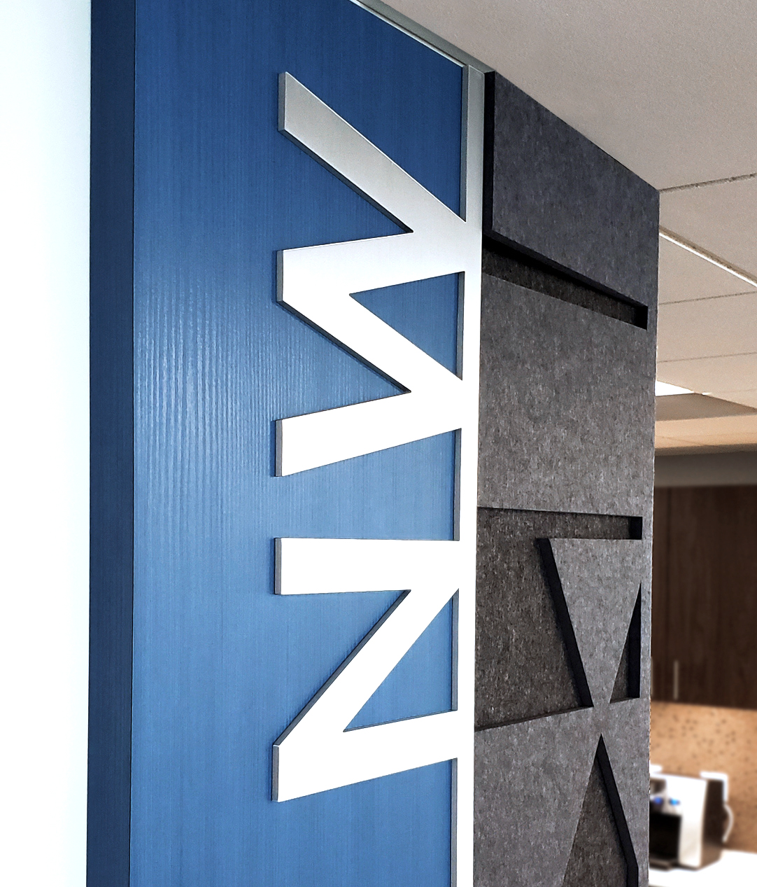 Oomph accoustic panels with Ethos lettering NW