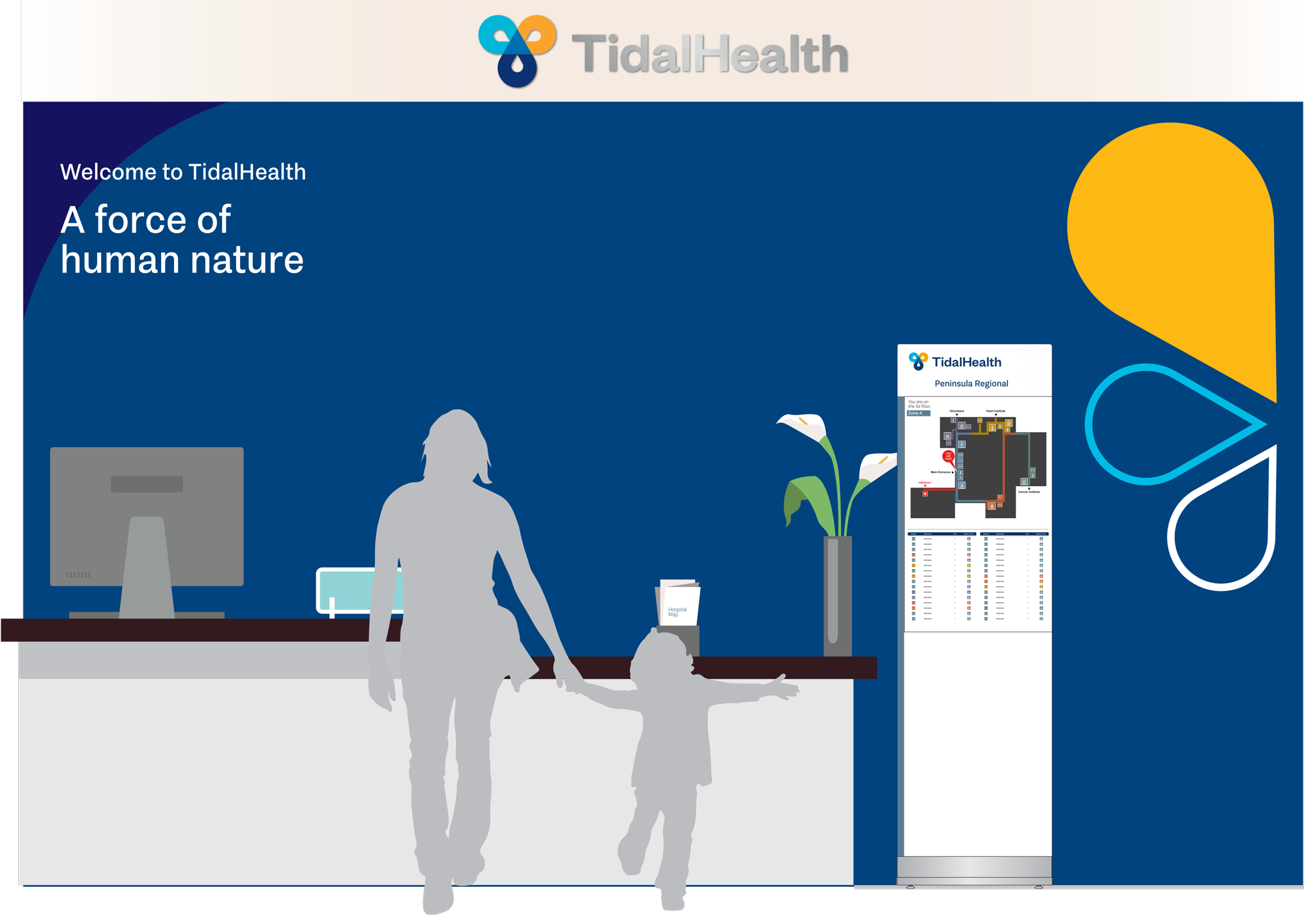 Rendering of Tidal Health graphics