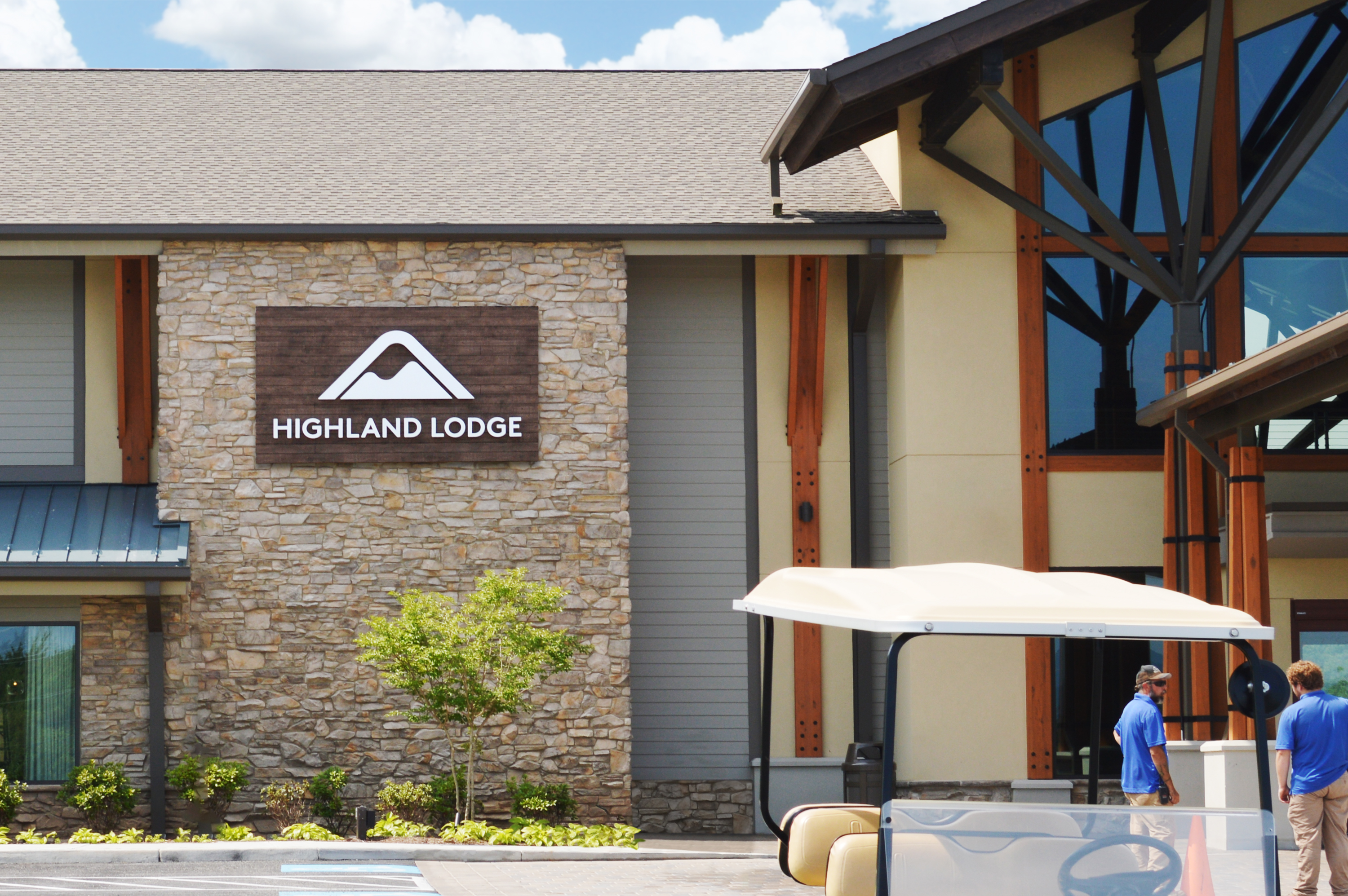 Photo of exterior or Liberty Mountian Resort with Ethos lettering signage