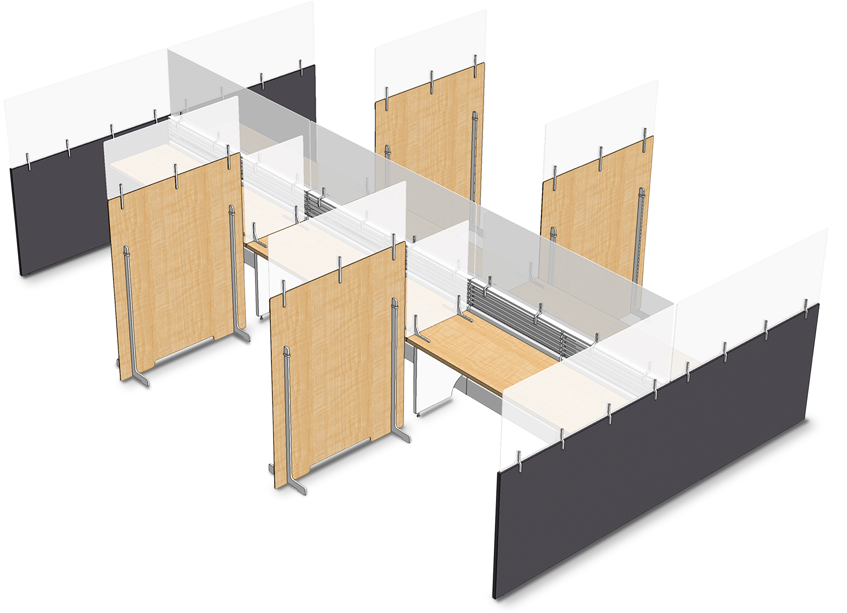 Freestanding unit rendering