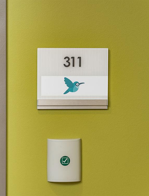 Vivid Room Sign for Children's Rehab Hospital