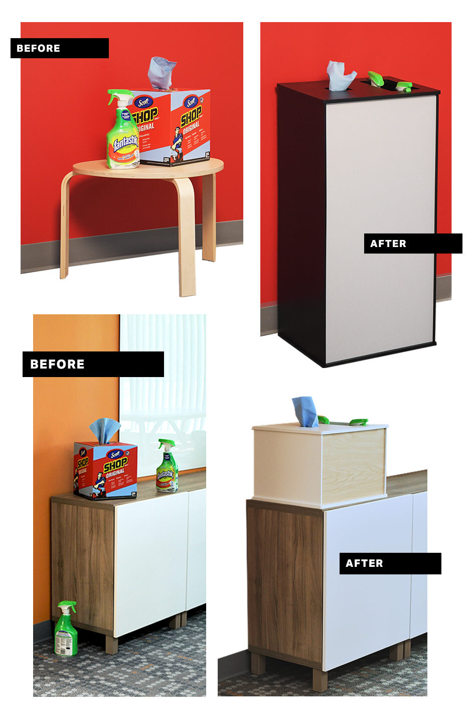 Before and Afters of Cleaning Stations by Takeform