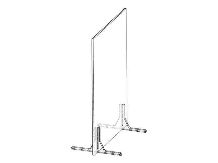 Freestanding protective desktop partition for desks, tables, or workstations