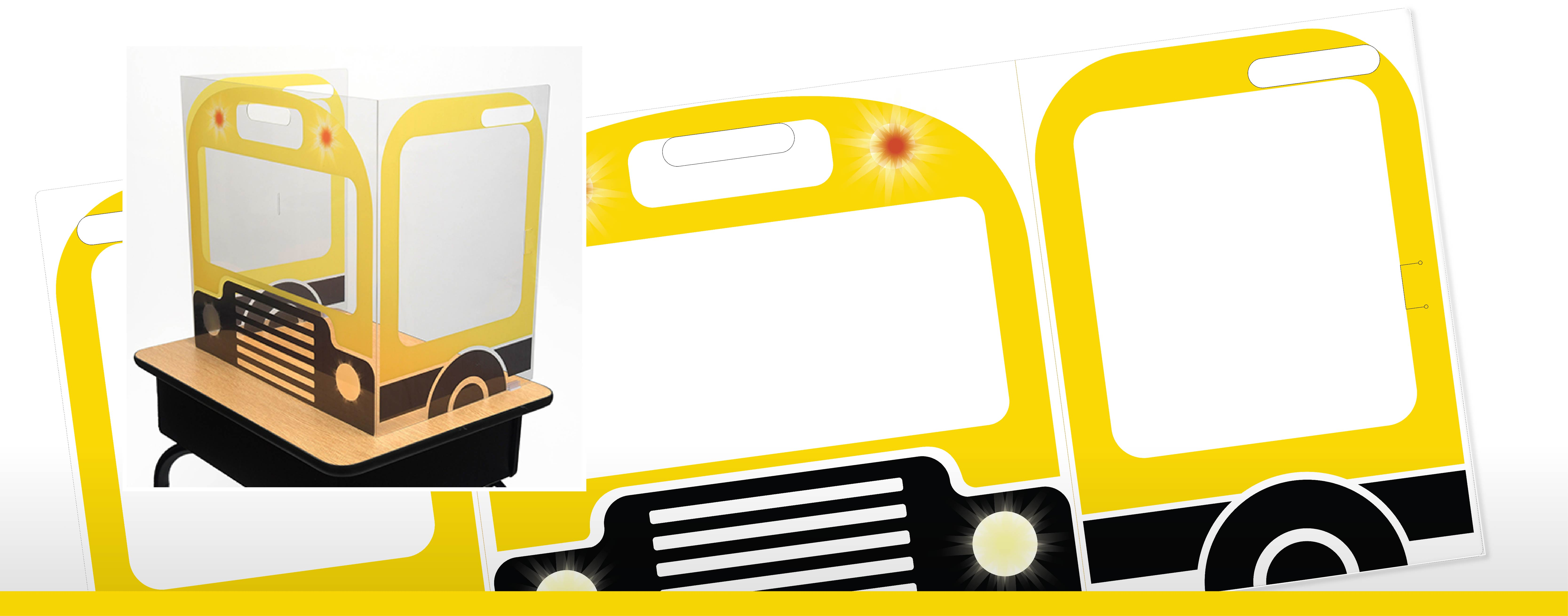 Yellow Bus Design for Adjoin's FunView Graphic Panels