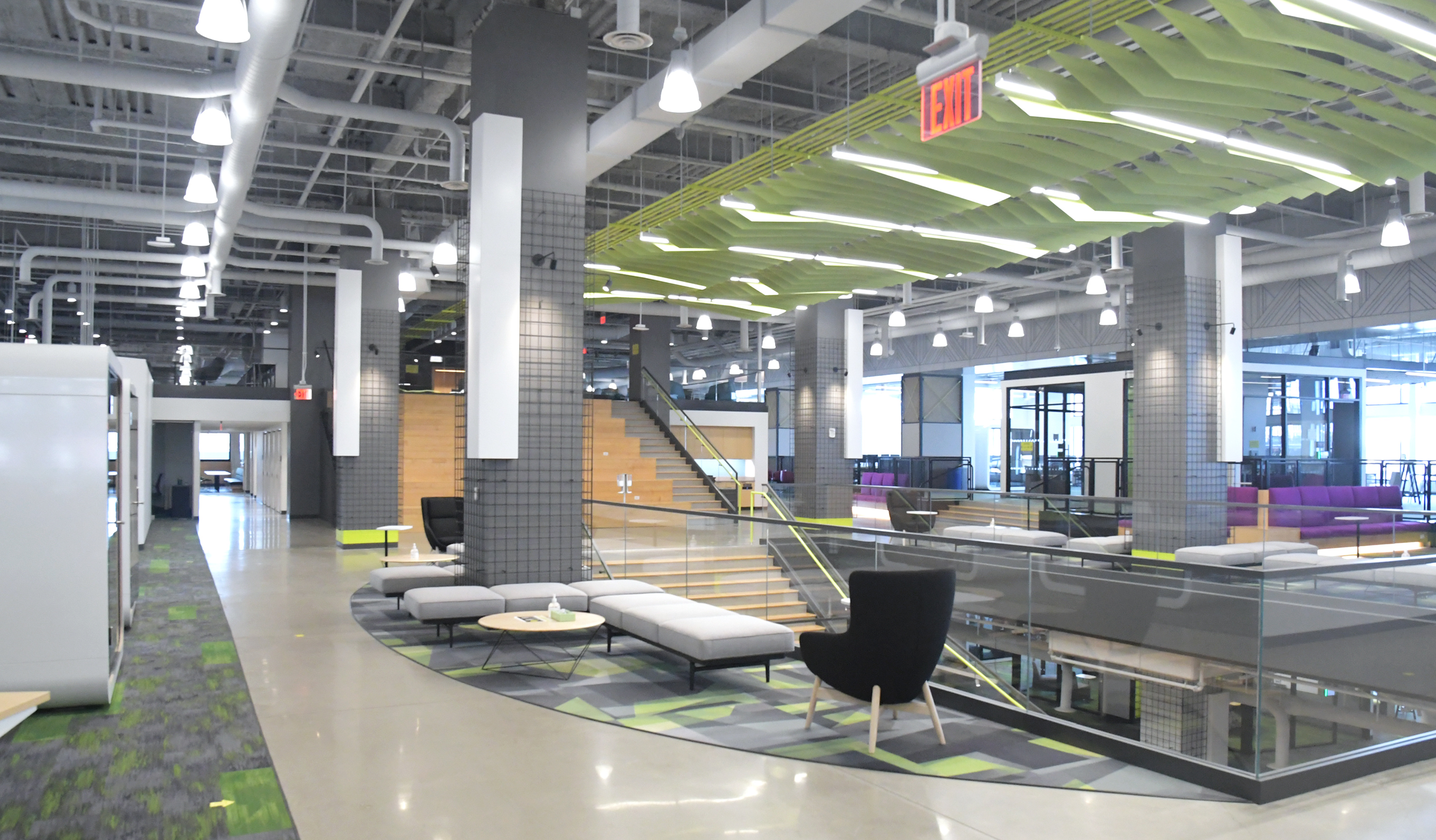 Interior M and T tech hub building photo