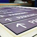 Transit parking garage signage wayfinding