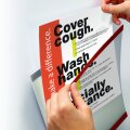 Notice Holder cover your cough wash your hands hand sanitizer covid-19 could be in a hospital doctors office nursing home higher education college university K-12 library corporate office Government building