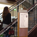 Fusion Freestanding Interior Signage wayfinding updatable paper inserts Directory Irondequoit NY Public Library Libraries