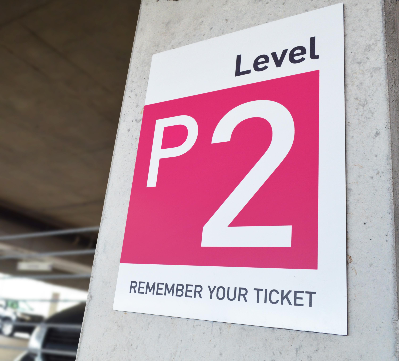 Photo of Transit parking sign in parking garage
