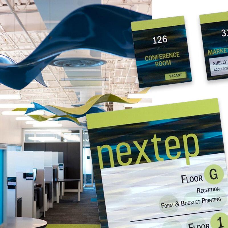 Interior Signage in Modern Office