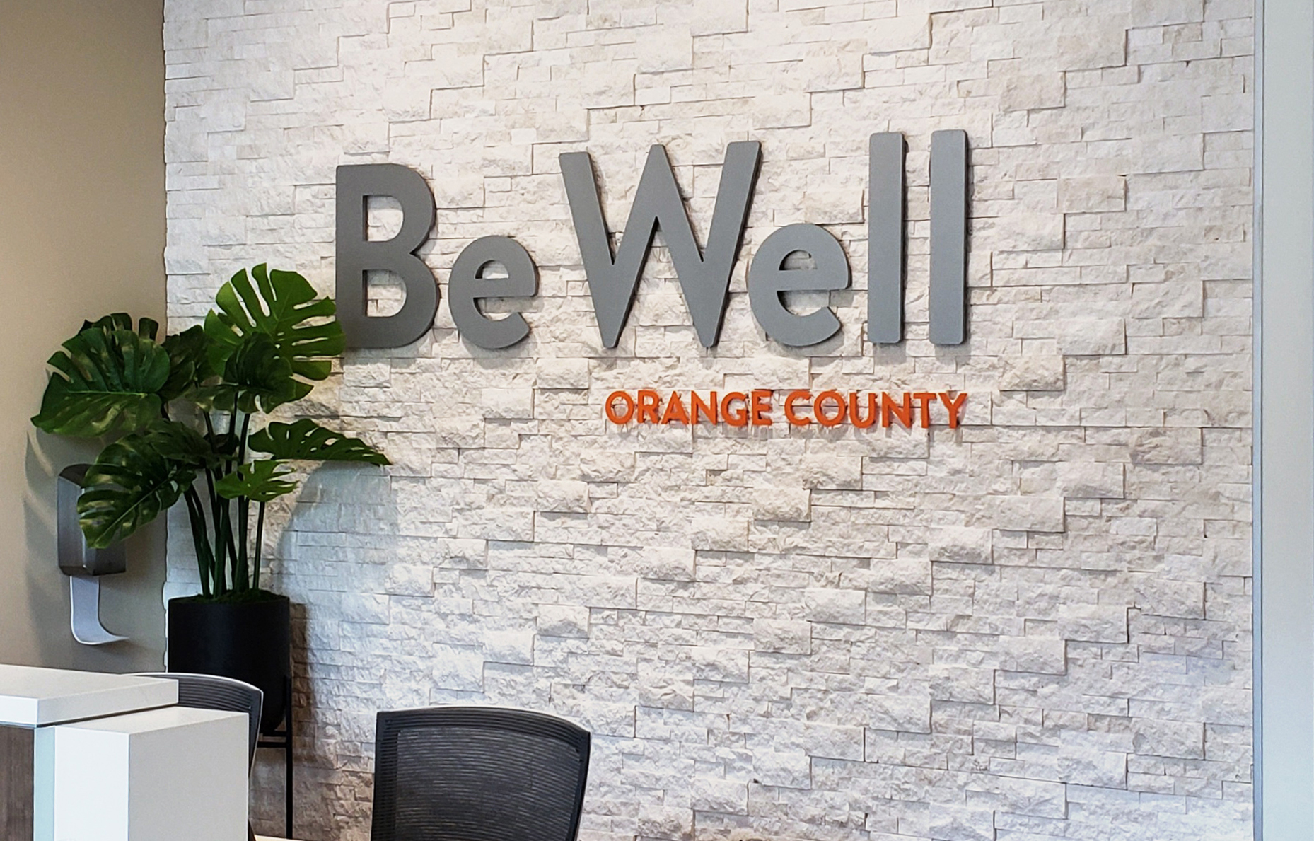 Ethos lettering at Be Well