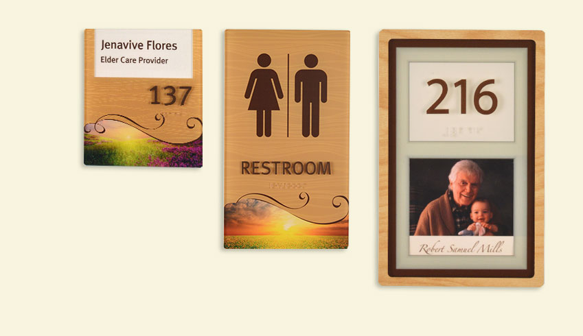 Senior living facility sign system