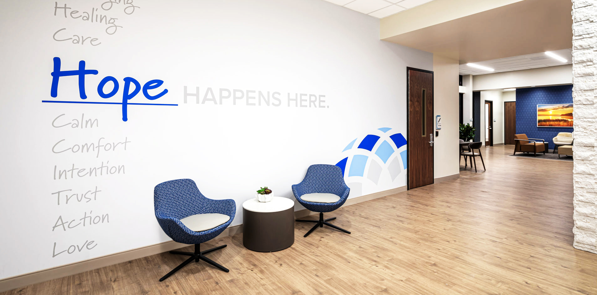 Be Well wall graphics