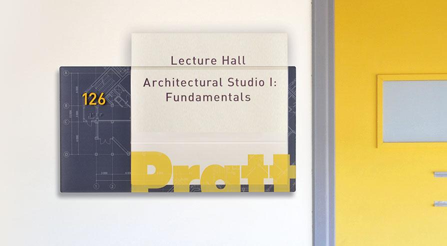 Classroom room ID signage