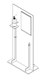 Freestanding PPE Station with pump dispenser and 11x17 notice holder
