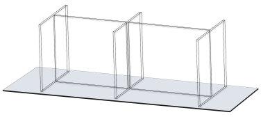 Six-Seat, Linear Tabletop Screen by Takeform