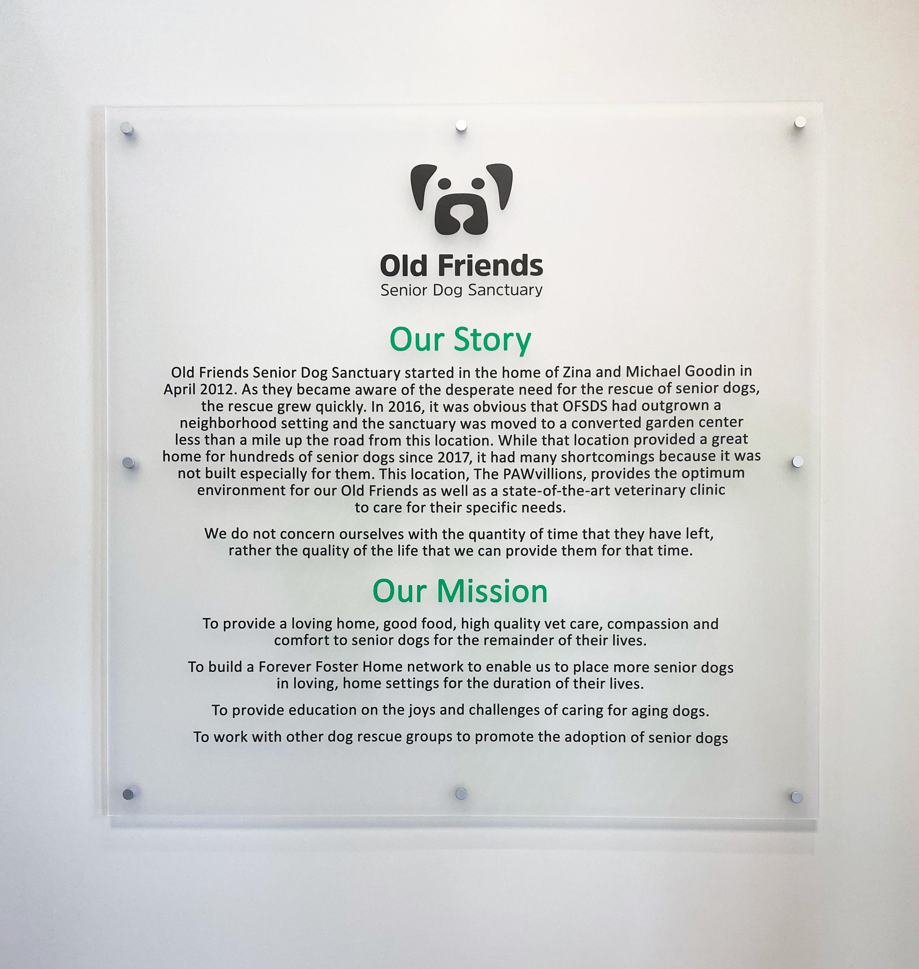 Photo of Vivid signage at dog sancuary