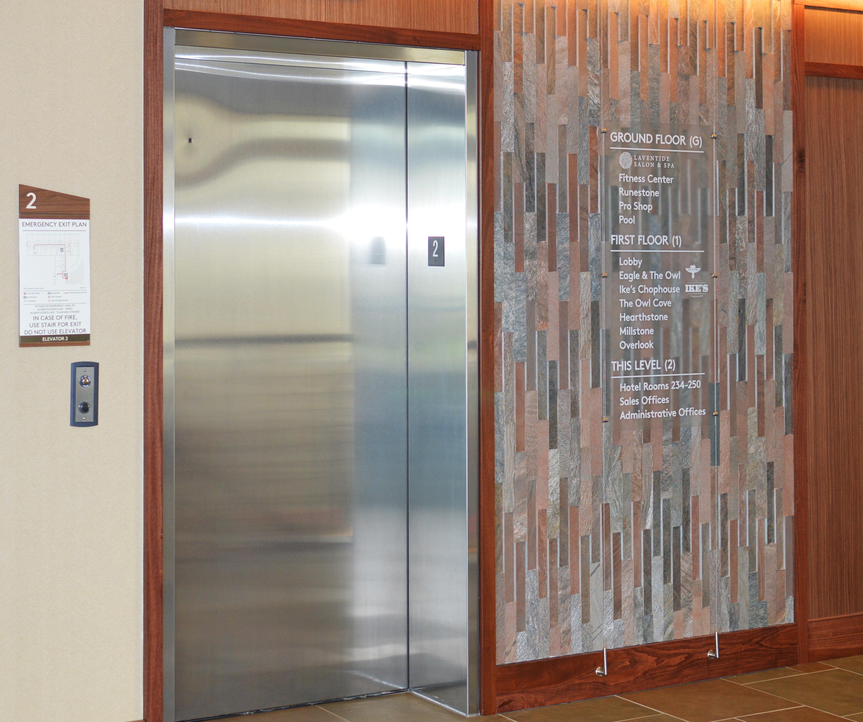 Photo of interior Lucid signage at Liberty Mountain Resort