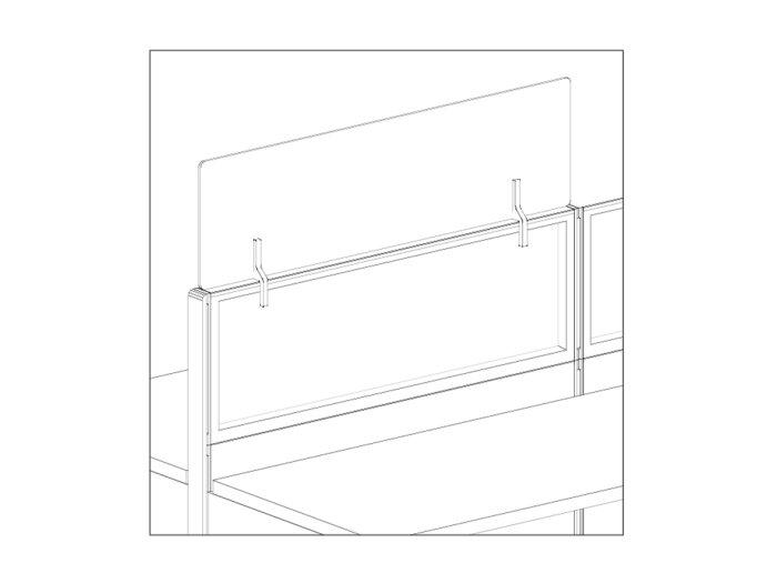 Workstation panel stacker line art