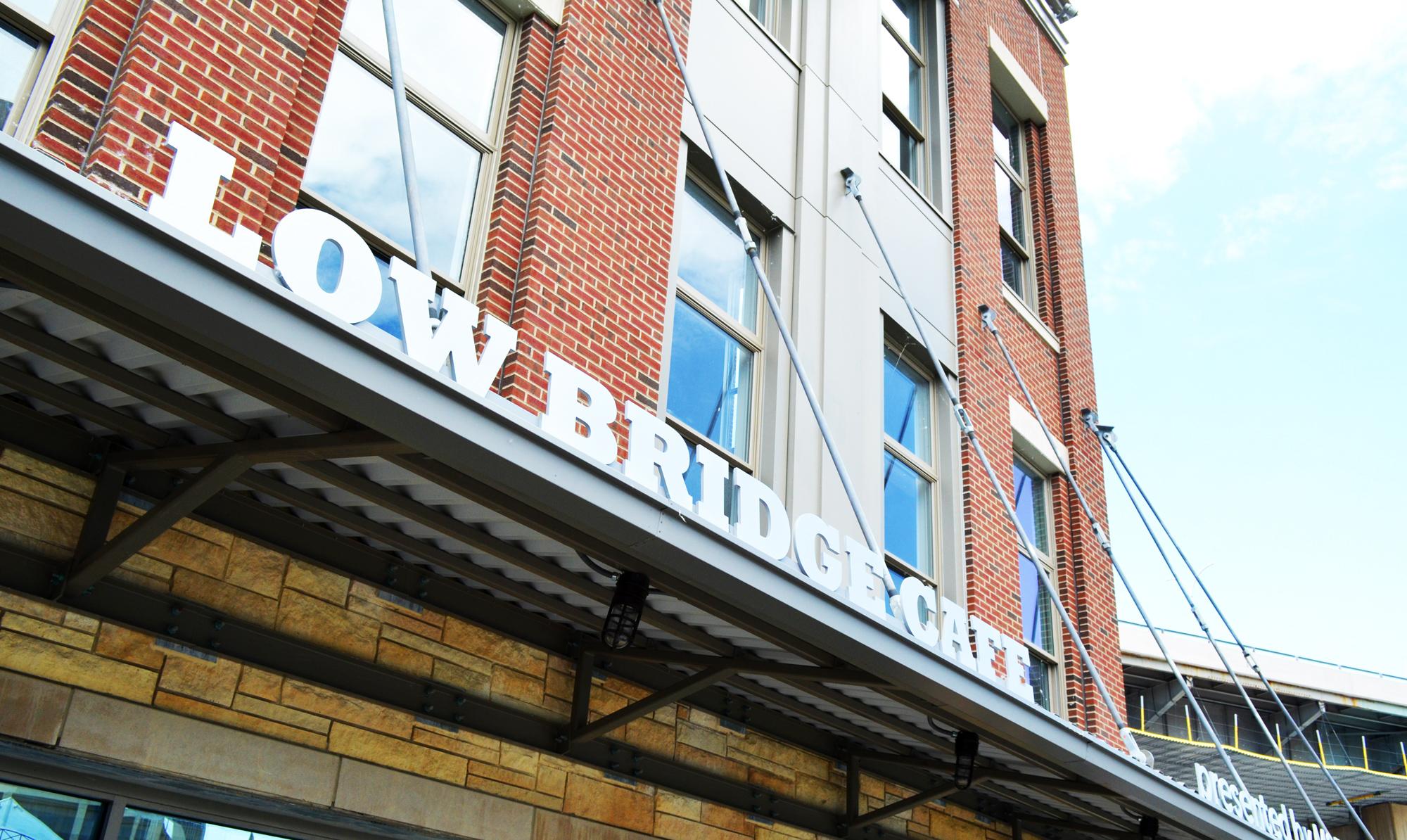 Lowbridge Cafe awning letters
