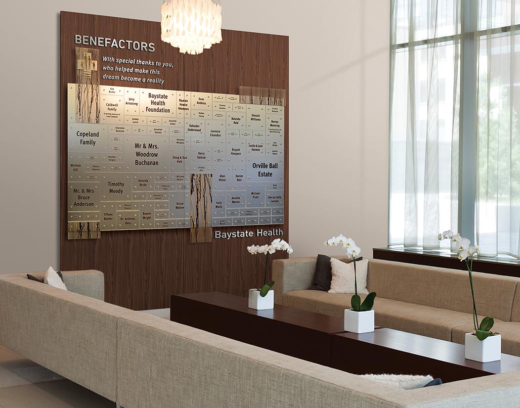 Healthcare Benefactors recognition display