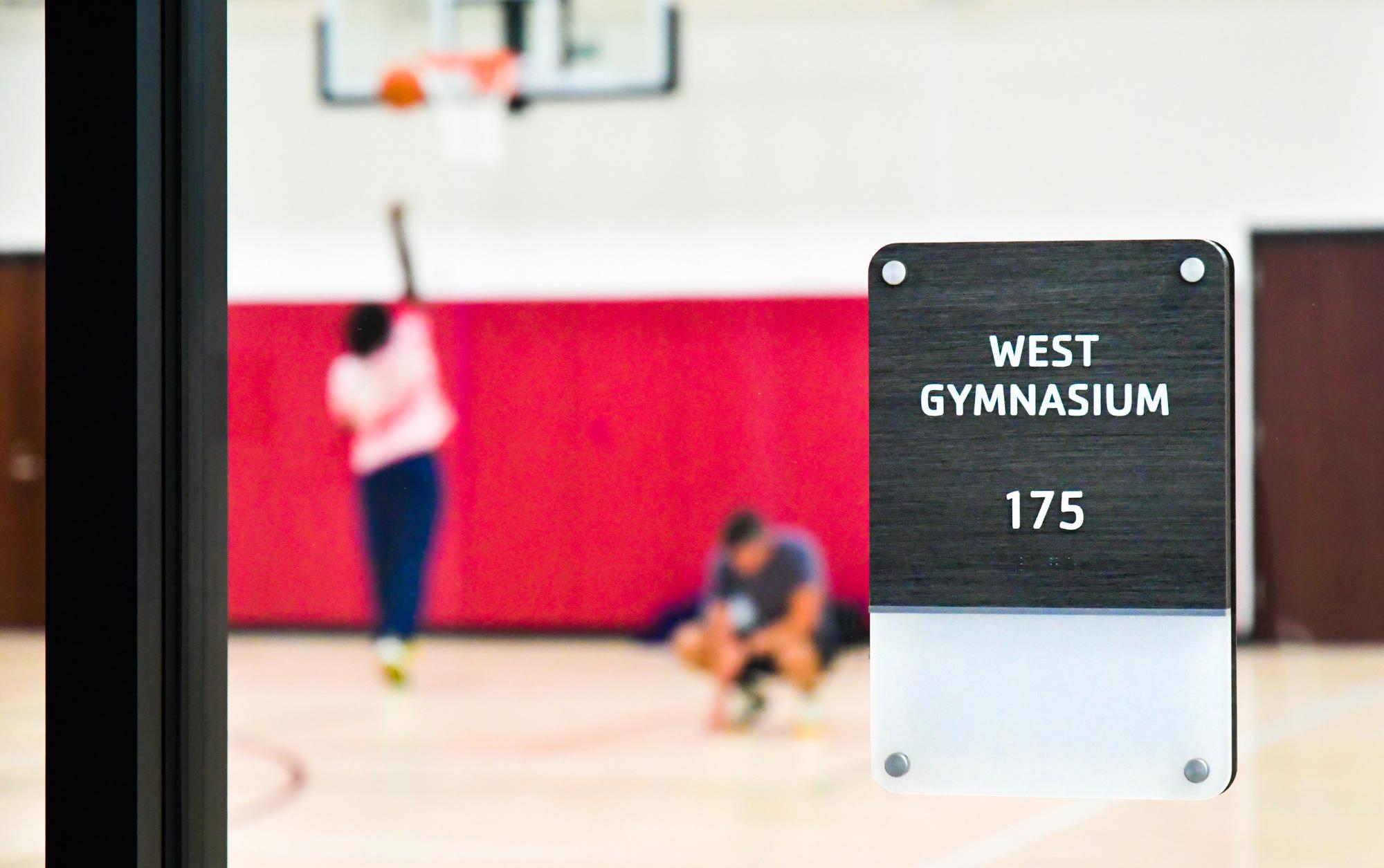 Fusion gymnasium sign at YMCA