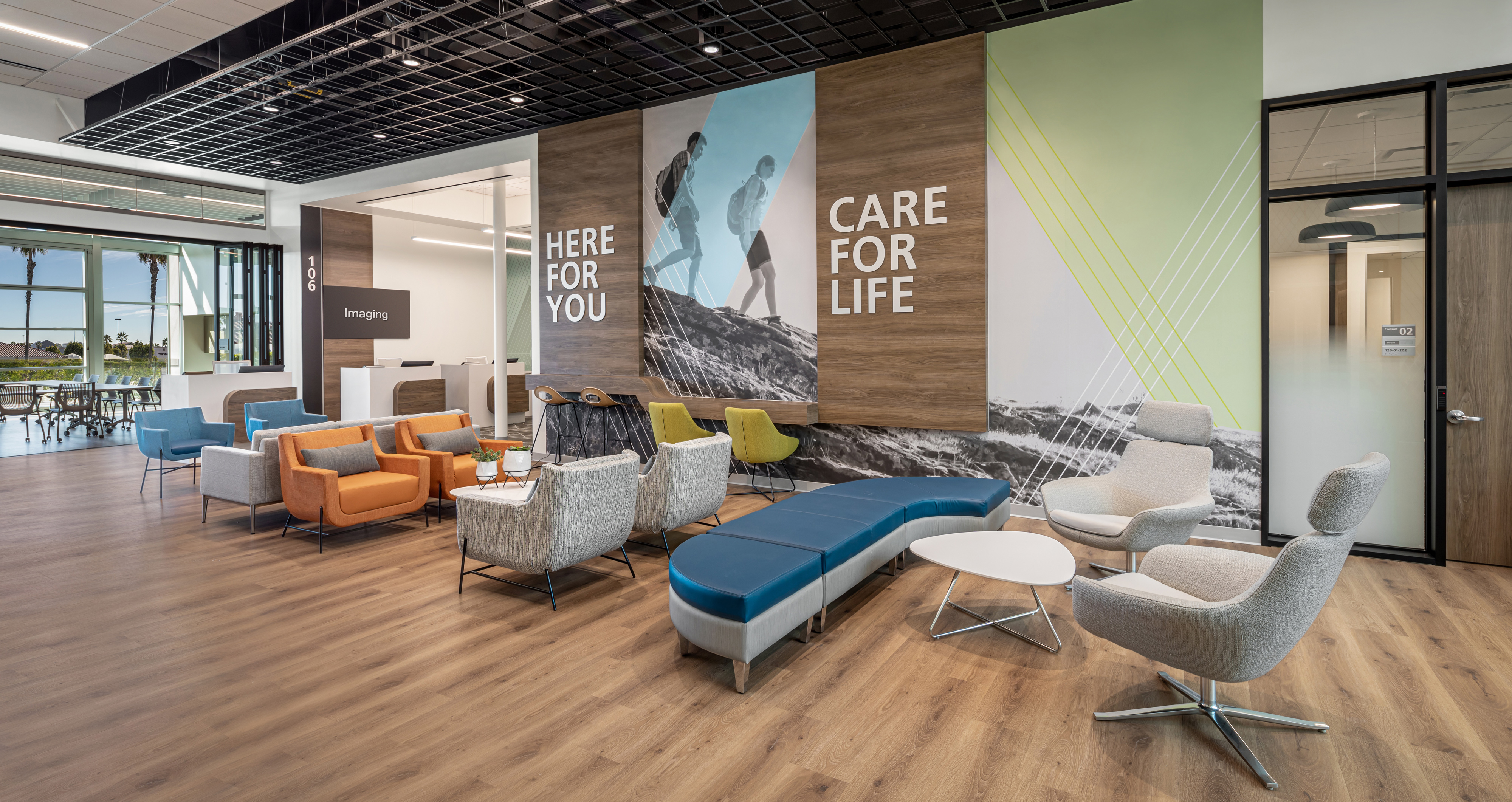Amplify wall covering at Foothill Ranch Health Center