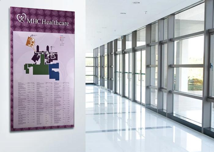 Purple Interior Map for Healthcare FAcility