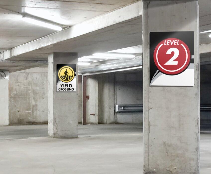 transit signage � parking garage signage takeform