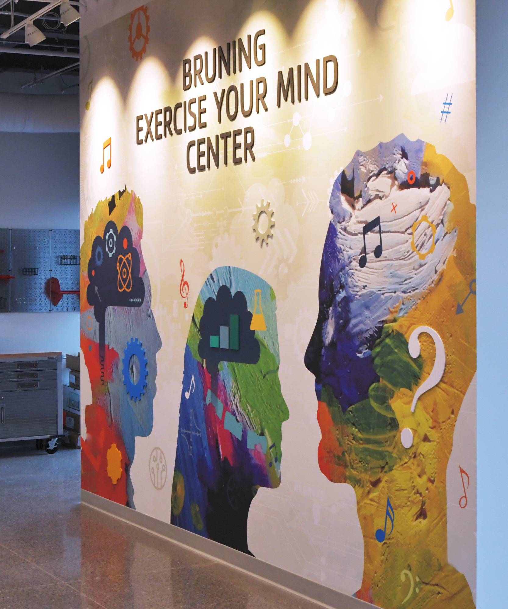 Amplify wall graphics at the YMCA