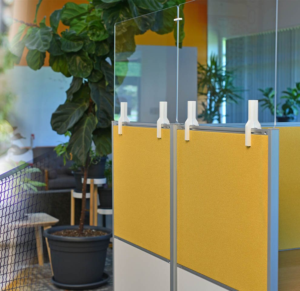 Clear Adjoin Workstation Partitions by Takeform