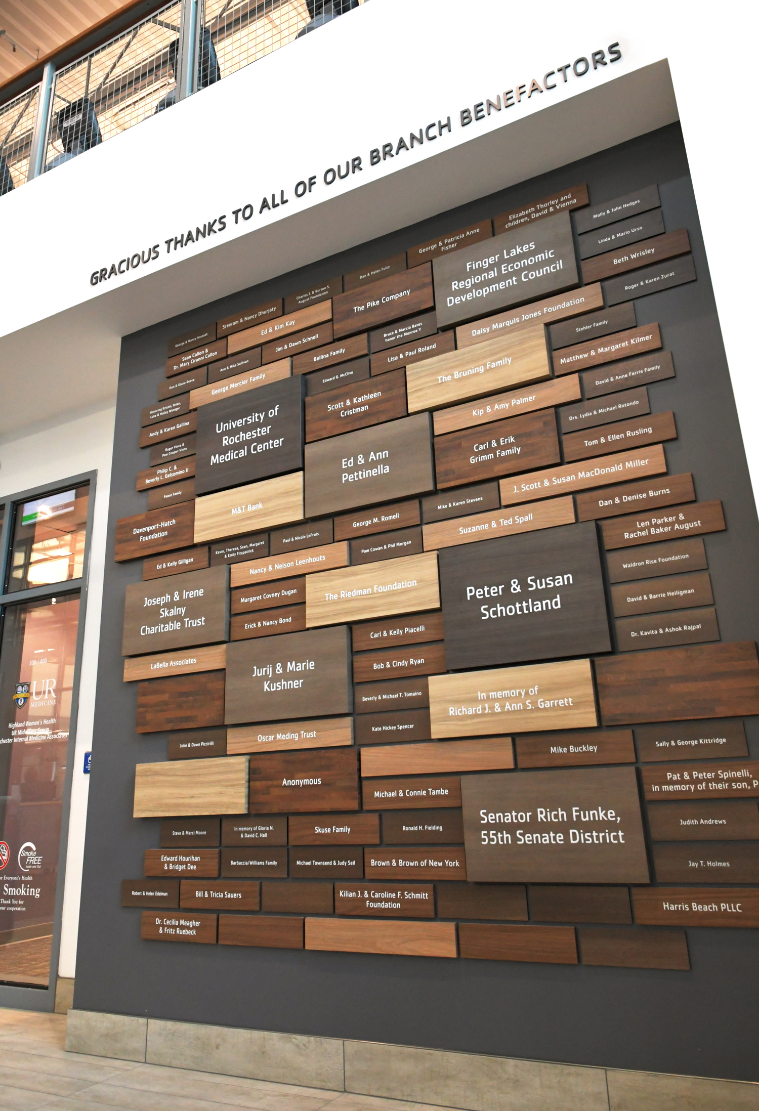 Applaud Regonition Wall at YMCA