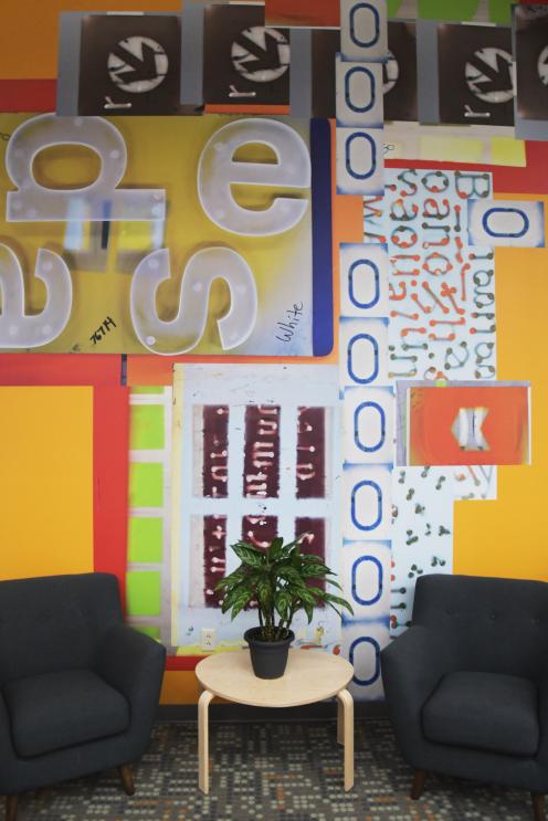 Idea wall in Takeform's design department
