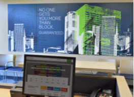 H&R Block Workstation Sign