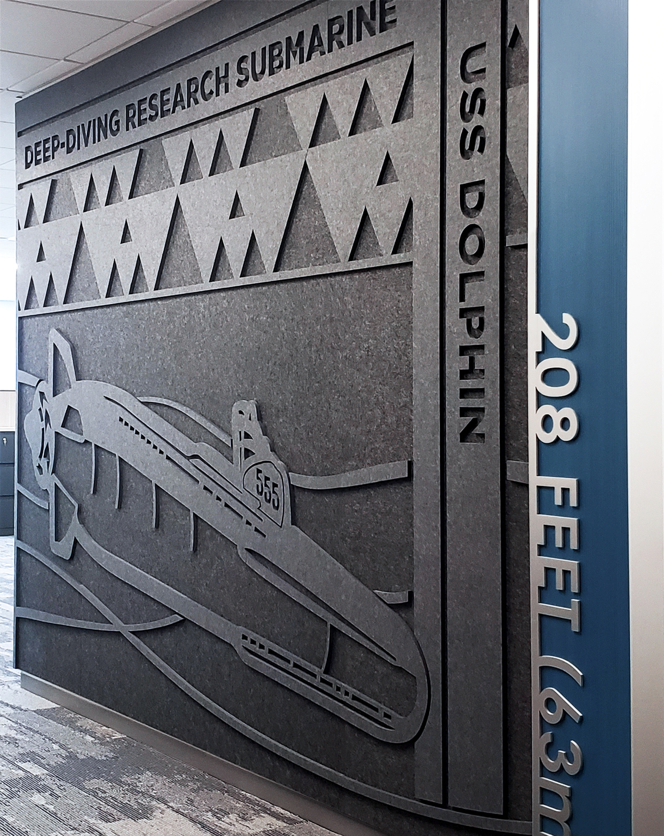 Oomph accoustic panels with maritime theme
