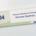 workstation nameplate updatable paper insert cubicle ID ADA Compliant Imagery Photo