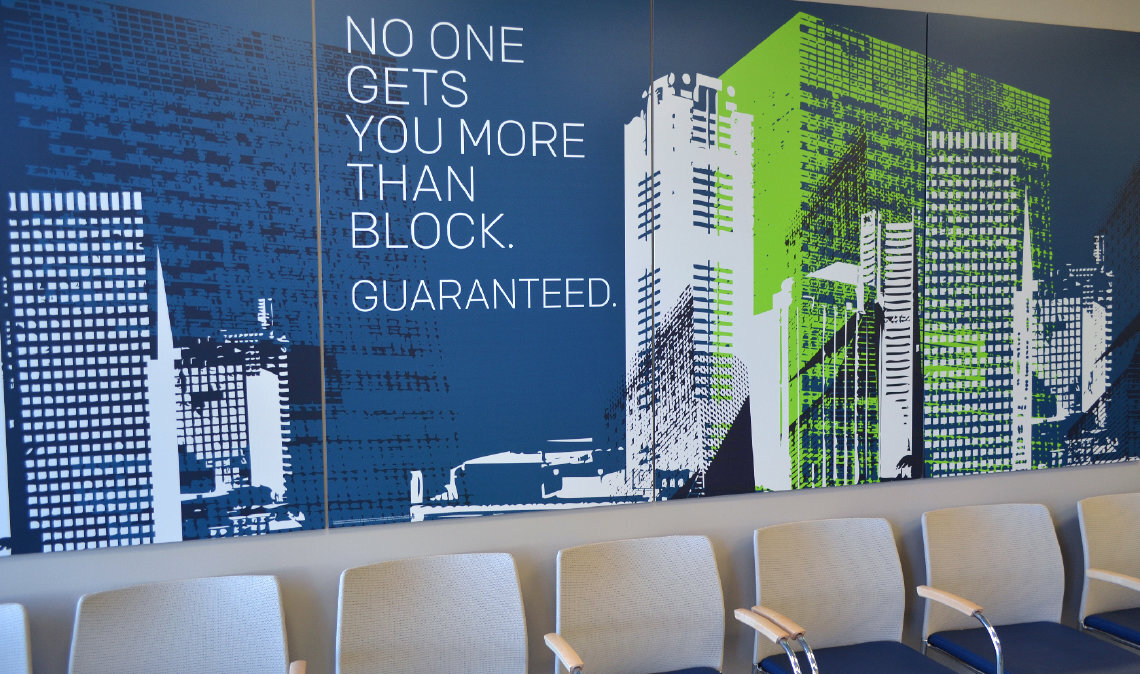 H&R Block Lobby Sign