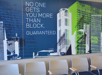 H&R Block Lobby Sign